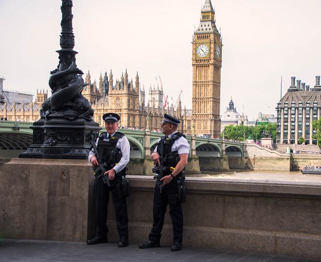 Armed Police in Westminster