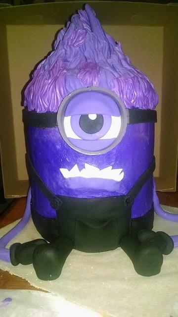 Purple Minion Cake by Becky Zeigler