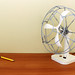 Caged Desk Fan by Grant Davis.