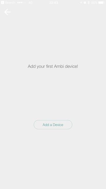 Ambi Climate Second Edition - iOS App - Setup #1