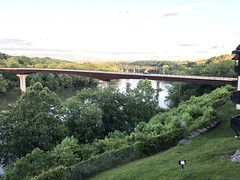 The Shepherdstown bridge last night, which the twins and I biked across