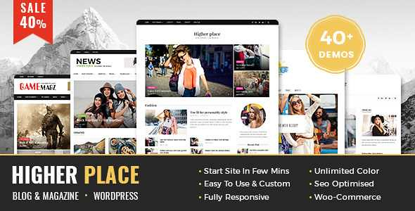 Higher Place WordPress Theme free download