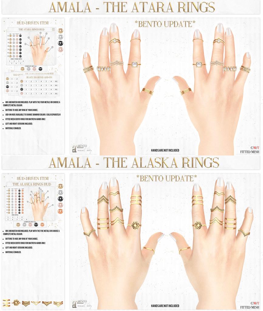 Amala - BENTO RINGS UPDATE - Atara and Alaska - SecondLifeHub.com