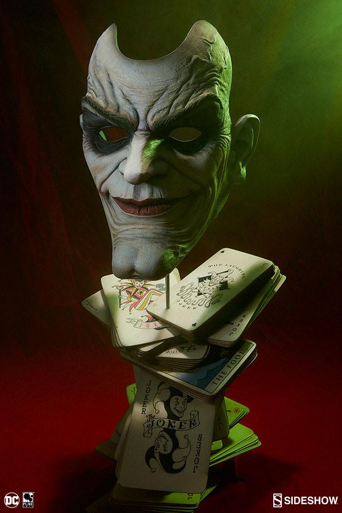 面對你的恐懼吧!SIDESHOW - 小丑:瘋狂的臉譜 1:1 雕像 The Joker- Face of Insanity Life-Size Bust