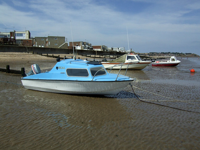 Boats on the beach at Leysdown-on-Sea