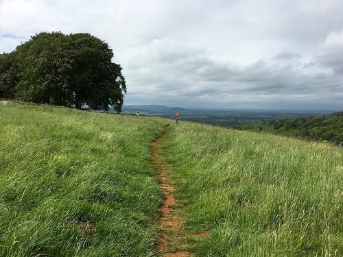 Approaching the Cotswold Escarpment