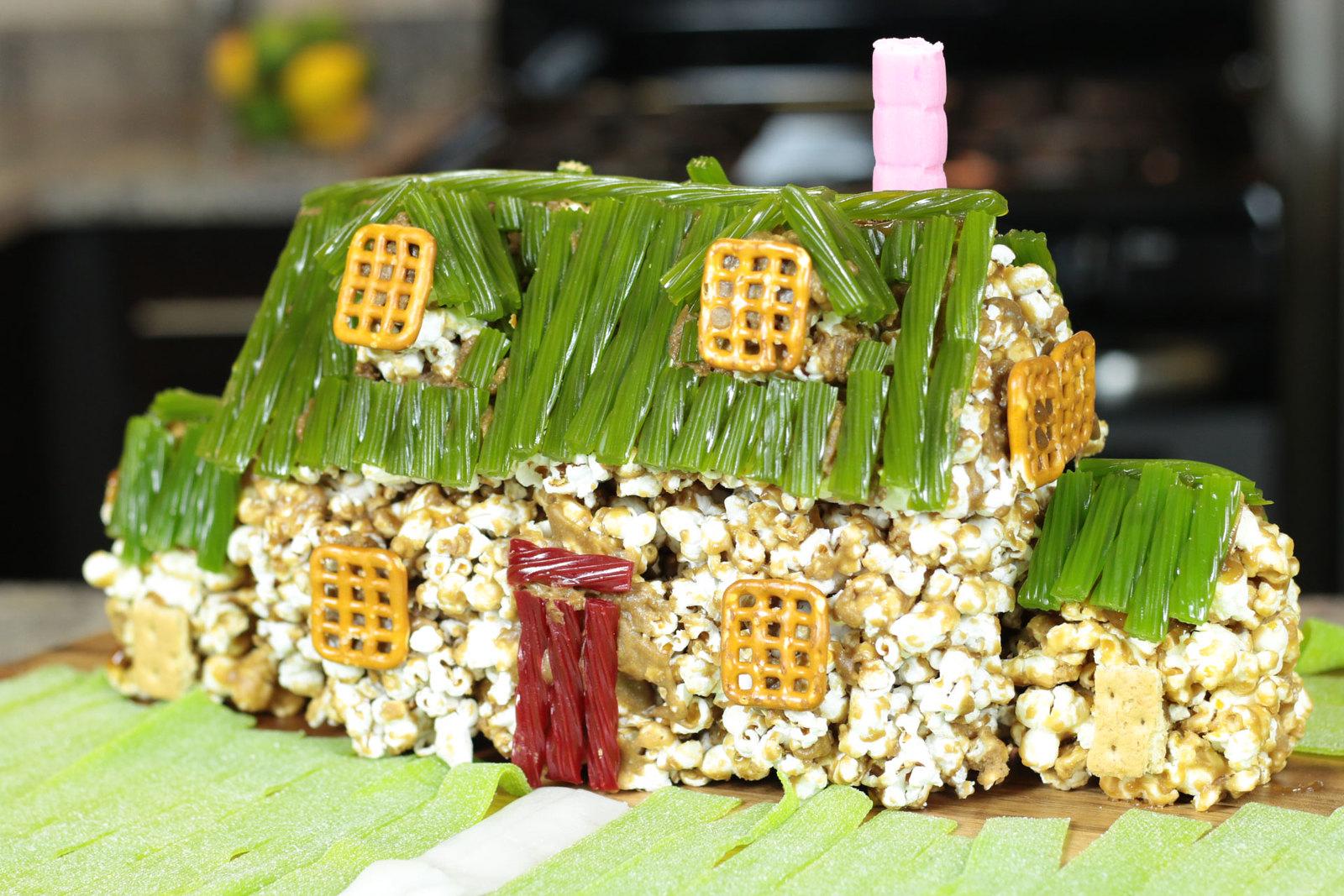 How To Make The Family Guy House Using Caramel Popcorn - Caramel Popcorn Food Art For Kids Tutorial