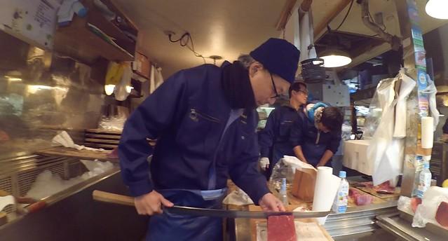 Tsukiji Market cut tuna - crystal neri