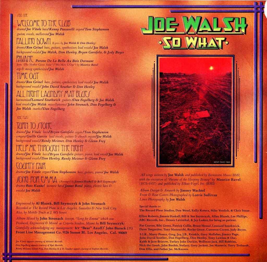 4 - Walsh, Joe - So What - US - 1974-- | Klaus Hiltscher | Flickr