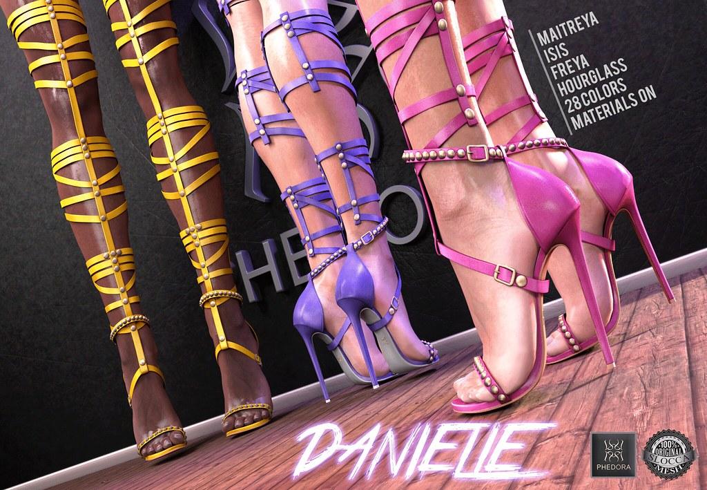 "Phedora for Uber- ""Danielle"" thigh high heels! ♥ - SecondLifeHub.com"