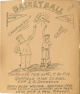 Basketball championship flyer, 1929