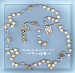 Special Intention Rosary Riverstone, Quartz and Map Jasper