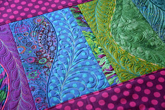 collage freeform table runner sweetpea designs machine embroidery  (3)