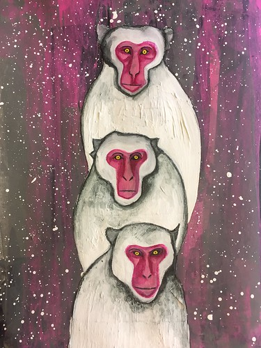 20b Three Monkeys Art Journal Page