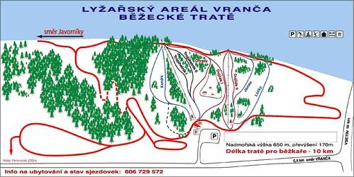 Vranča - mapa sjezdovek