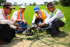 Preparation for launching drone