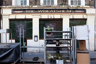 The Wheatsheaf pub during reconstruction