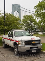 National Park Service Fire Pickup Truck, Fort Wadsworth, New York City
