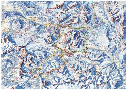 Dolomiti Superski - mapa sjezdovek