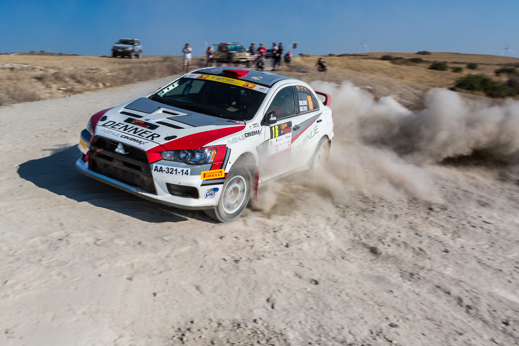 16 DENNER Deniz (cyp) and TOPCU Omer (cyp) DENIZ DENNER MITSUBISHI LANCER EVO X actionduring the 2017 European Rally Championship ERC Cyprus Rally,  from june 16 to 18  at Nicosie, Cyprus - Photo Thomas Fenetre / DPPI
