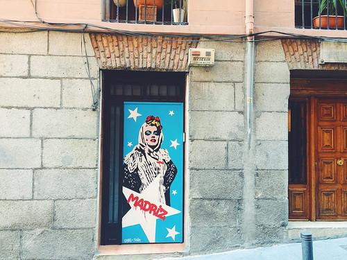 Malasana area in Madrid
