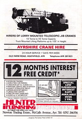Ayr United vs Airdrie - 1991 - Back Cover Page