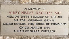 Photo of Airey Neave marble plaque