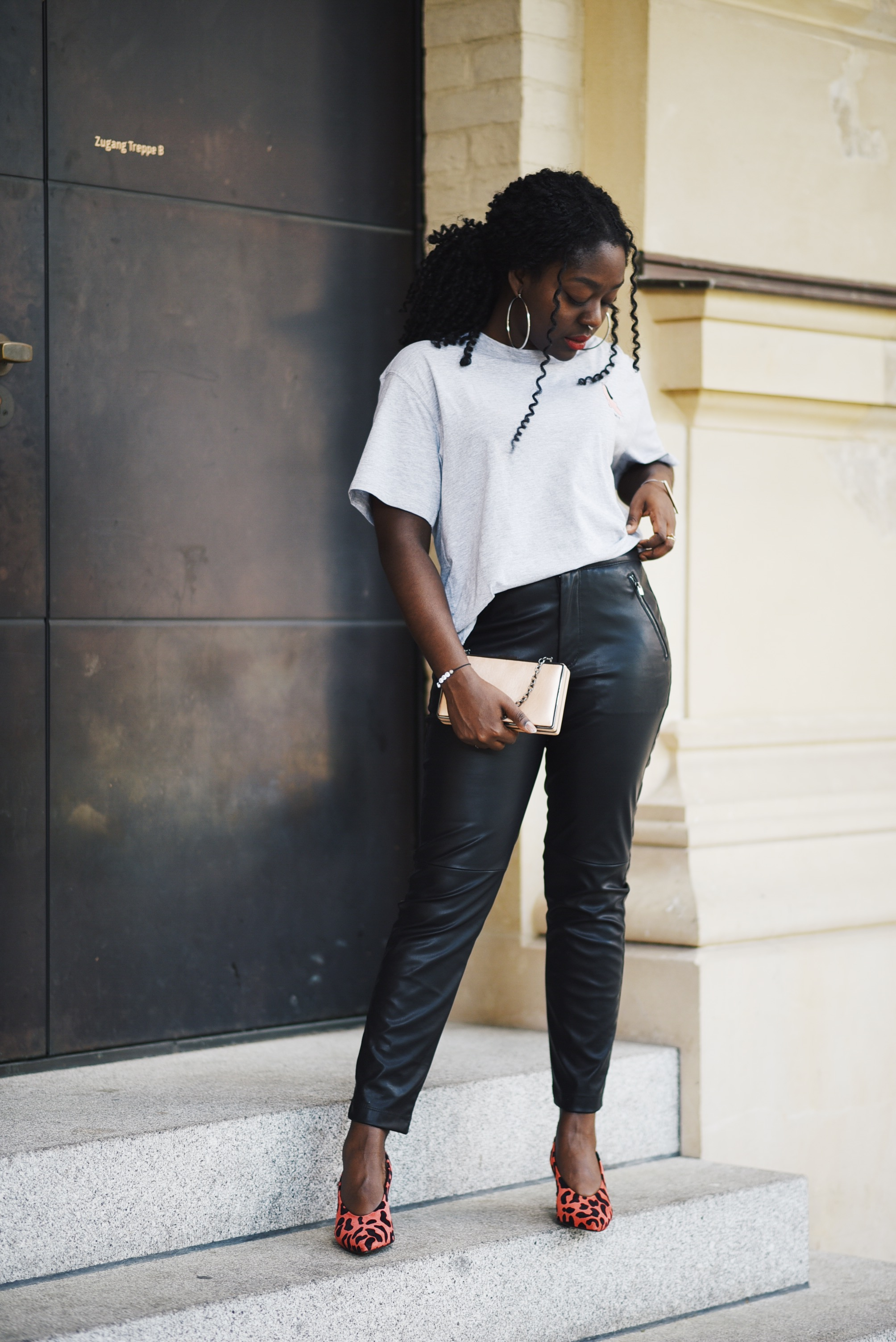 Lois Opoku Leather Pants Style Fashion Blogger