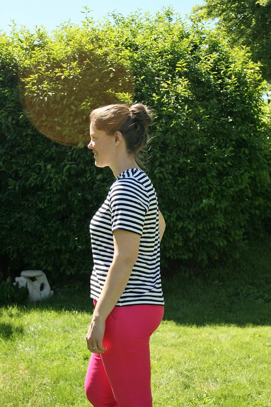 Black and White Striped Lark Tee