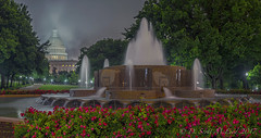 Foggy US Capitol & Upper Senate Fountain