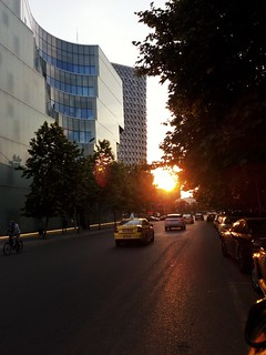 Sunset in Tirana
