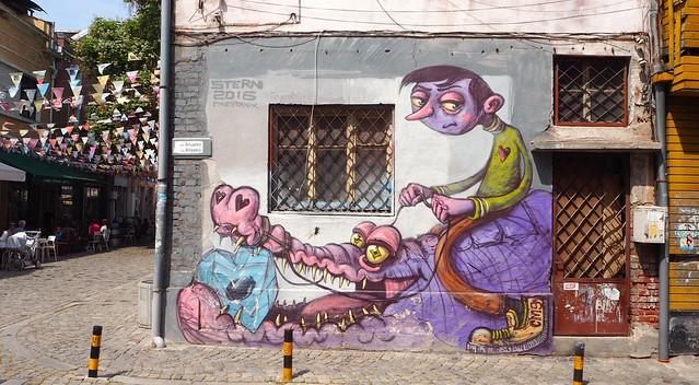 Graffiti in Kapana