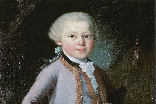 Detail from The Boy Mozart, 1763. Anonymous, possibly by Pietro Antonio Lorenzoni
