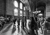 Lining up for the wishing column in the Haghia Sophia by damonlynch