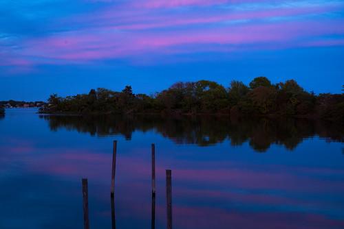 sunset horseshowcove charlestown rhodeisland unitedstates us