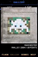 MAN_18 , Invader, Flash Invaders, street art Manchester