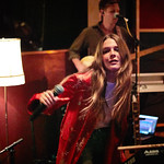 Tue, 09/05/2017 - 7:11pm - Maggie Rogers delights a room of WFUV members at Electric Lady Studios in New York City, 5/9/17. Hosted by Carmel Holt. Photo by Gus Philippas