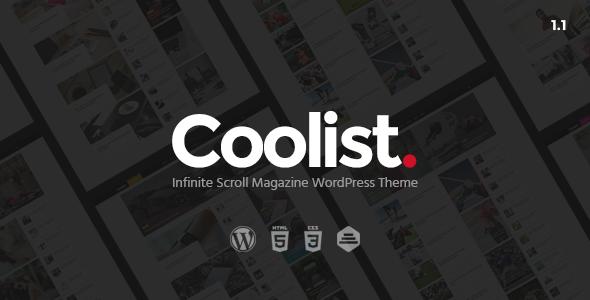 Coolist v1.2.1 – Infinite Scroll Magazine WordPress Theme
