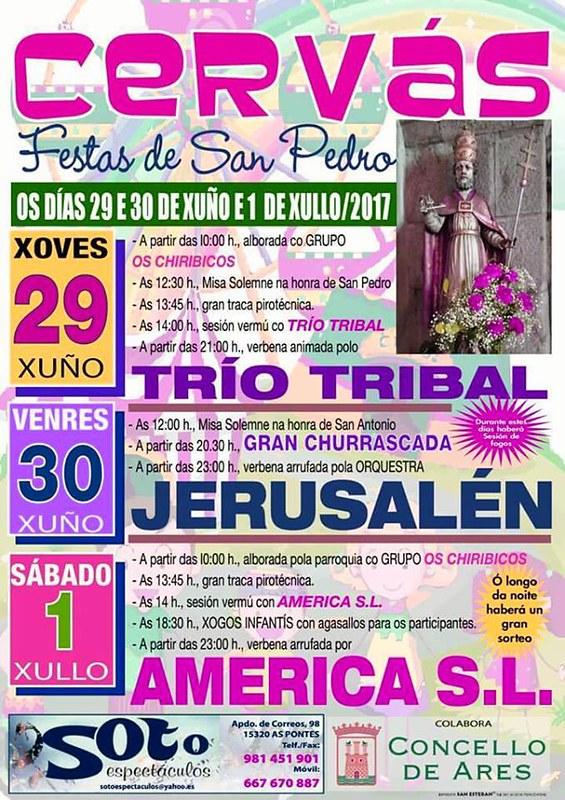 Ares 2017 - Festas de San Pedro en Cervás - cartel