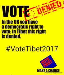 #VoteTibet2017 #VoteTibet #TibetSociety #GE2017