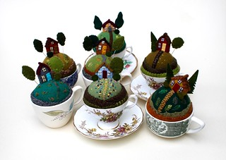 7 Tiny World pincushions!