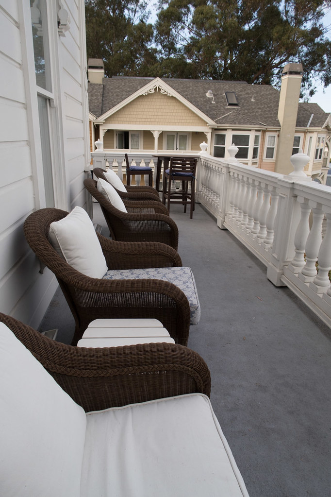 Balcony seating for everybody at B&B
