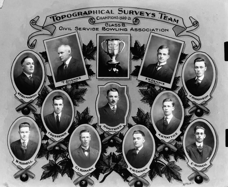 Topographical Surveys Team, Champions 1920–21... / Équipe des levés topographiques, champions 1920-1921...