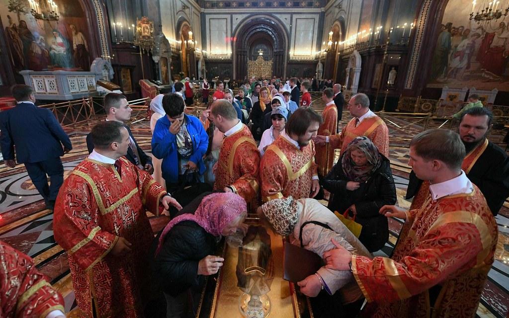Hơn 300.000 lượt xem thánh tích của Thánh Nicholas ở Moscow