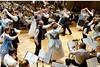 Tanzvorführungen der Trachtenpaare aus Billed und Karlsruhe