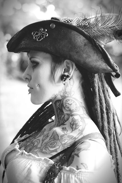 Tricorne, Dreadlocks and Tattoos