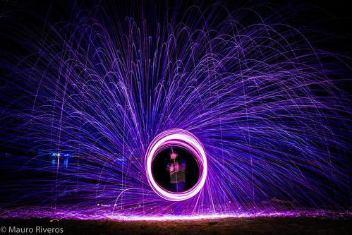 asunción paraguay py costanera firering arodefuego largaexposicion longexposicion fire fuego lila purple