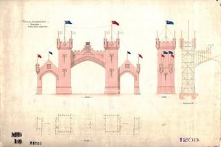 Balmoral Arch, Dunedin 1901