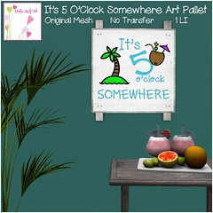 It's 5 O'Clock Somewhere Art Pallet - 1L Hunt Prize