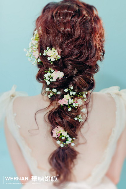 新娘秘書,台中婚紗,新娘造型,鮮花新娘,新娘髮型